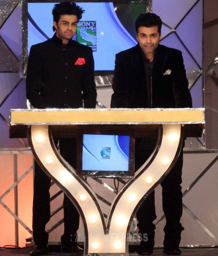 Manish Paul and Karan Johar host the show together. (Photo: Varinder Chawla)