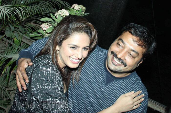 Bollywood filmmaker Anurag Kashyap,  who recently announced his split from actress wife Kalki Koechlin, was spotted at the special screening of 'American Hustle' with actress Huma Qureshi, whose closeness with the director is rumoured to be the reason of his split. (Photo: Varinder Chawla)