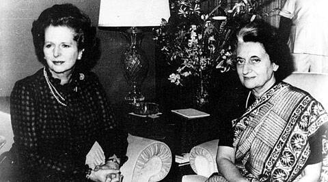 Margaret Thatcher with Indira Gandhi in New York on September 3, 1983. (Express Archive)