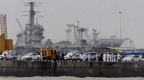 The Navy has also constituted a board of inquiry into the grounding of the INS Sindhurakshak — a kilo class submarine, near the Mumbai naval base. (Photo: PTI)