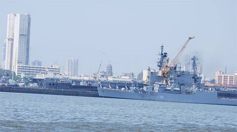 INS Betwa — a Brahmaputra-class guided missile frigate — is suspected to have run aground or collided with an unidentified object while approaching the Mumbai naval base. (Wikipedia)