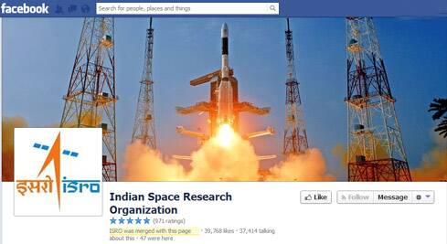 Minister of State for PMO V Narayanasamy said ISRO had opened a Facebook page on the MOM, which has received over 3 lakh 'likes' so far.