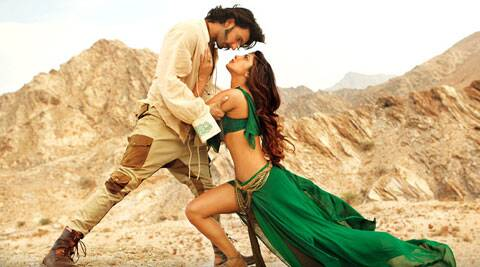 The video has Priyanka Chopra, who plays a cabaret dancer in the film, romancing Ranveer Singh.