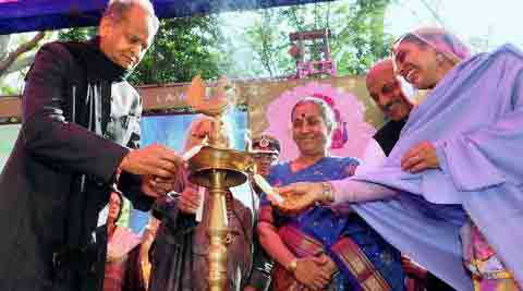 "Rajasthan Governor Margaret Alva who inaugurated the festival by lighting the official festival torch said that JLF has made Jaipur, ""the Kumbh of literature"" in recent years. (PTI)"