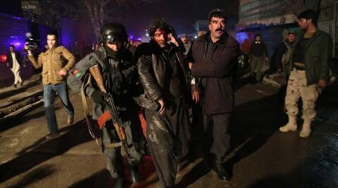 "Taliban spokesman Zabihullah Mujahid claimed responsibility for the attack, which he said targeted foreign officials dining at what he described as a ""hotel."" (AP)"