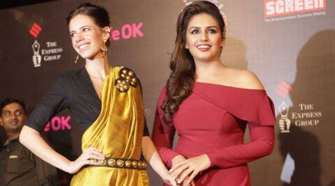 Kalki Koechlin recently hinted that there was no misunderstanding between her and Huma by attending the premiere of 'Dedh Ishqiya'. (IE Photo: Ganesh Shirsekar)