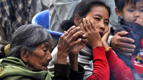 2,000 Rengmas exploited by militant groups and largely abandoned by the government. (IE Photo)