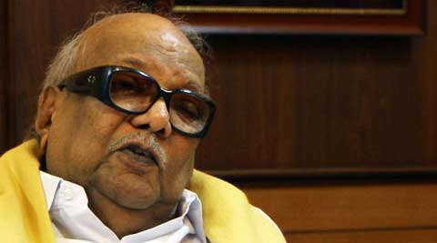 DMK chief Karunanidhi.