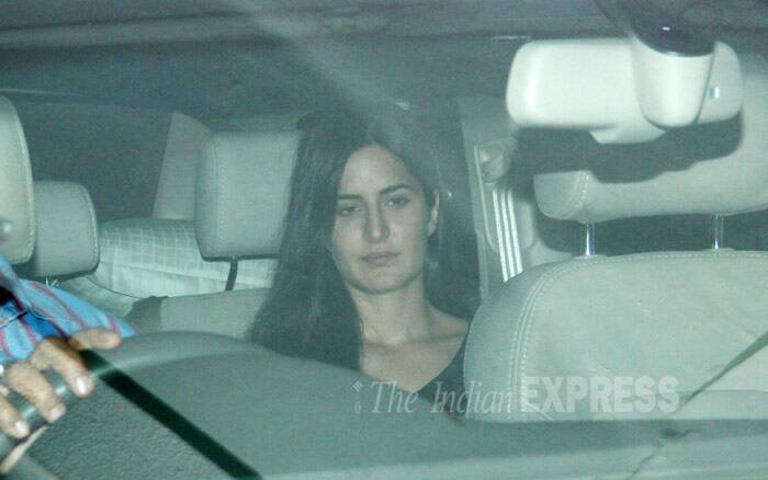 Katrina Kaif, who will be working with Ranbir Kapoor in 'Jaggaa Jasoos', seems to be still upset with the 'Besharam' actor as she's snapped looking glum on her arrival. (Photo: Varinder Chawla)
