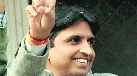 Kumar and his cavalcade of about 150 vehicles faced sporadic protests as they drove to Amethi from Lucknow.