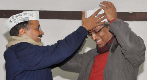 Ashutosh, who till last week was the Managing Editor of IBN7, joined the Aam Aadmi Party pausing his 23-year-old journalistic career.