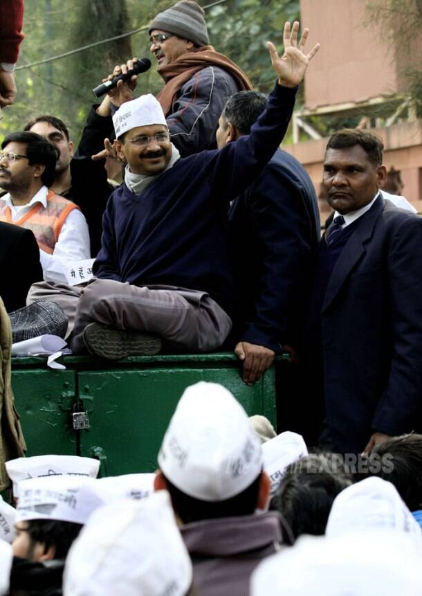 Day 1: Arvind Kejriwal, Delhi Ministers hold dharna outside Rail Bhavan