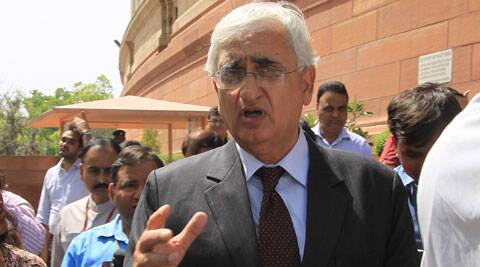 Khurshid said both countries would have to find out new avenues for the resolution of water and all other problems. (Express Archive)