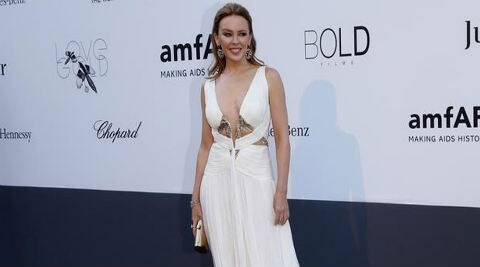 Kylie Minogue said she was having a bad day before getting in the studio with Pharrell Williams. (Reuters)