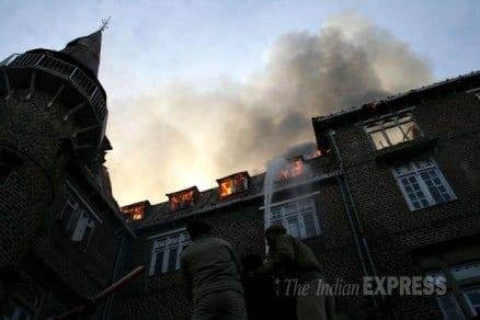 Major fire at heritage 'Gorton Castle' building in Shimla