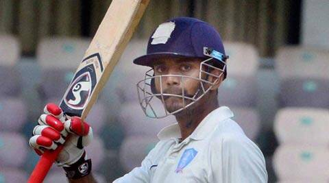 Ranji Trophy: Lokesh Rahul celebrates after his half century in the final match between Karnataka and Maharashtra (PTI)