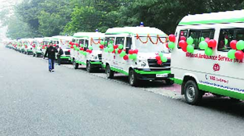 Chief Minister Akhilesh Yadav launched the Health Department's 102 National Ambulance Service for pregnant women in Lucknow on Friday. Vishal Srivastav
