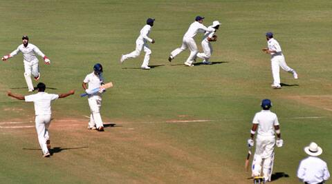 Maharashtra medium pace trio captured all 10 Mumbai second innings wickets (IE Photo)