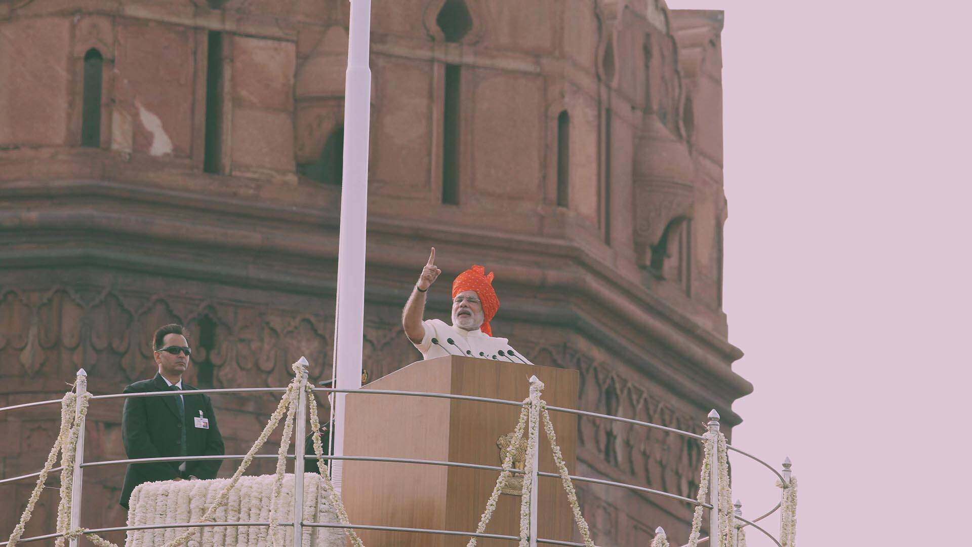 Modi, first PM born after Independence, makes maiden I-day speech