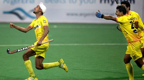 Mandeep Singh was brilliant upfront and scored his hat-trick in the 53rd minute (IE Photo Ravi Kanojia)