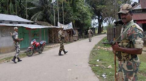 Paramilitary and police forces have been deployed in large numbers around the area.