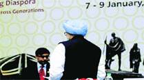 Manmohan Singh at Pravasi Bharatiya Divas, in New Delhi Wednesday.	Prem Nath pandey