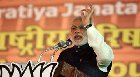Narendra Modi says upcoming polls are different from the earlier elections. (IE Photo: Amit Mehra)