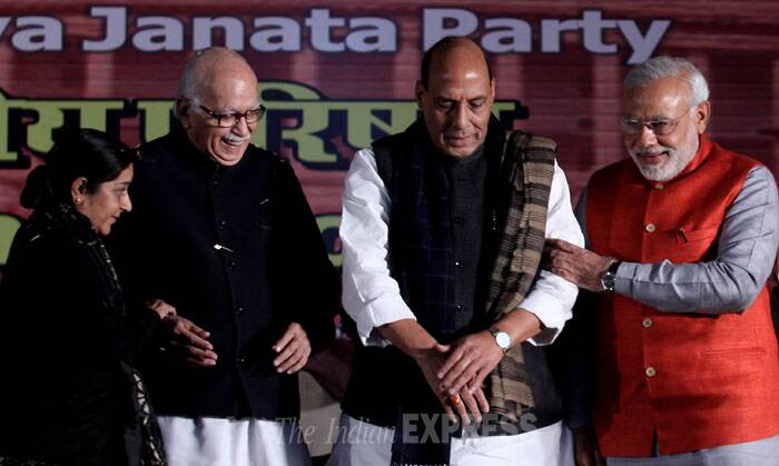 "He further added that it was Home Minister Sushilkumar Shinde, from her government, who spoke about ""Hindu terror"". Gandhi had in her speech at AICC meet yesterday said that opposition BJP's ideology is divisive and communal. (IE Photo: Prem Nath Pandey)"