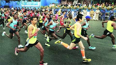 Mumbai Marathon is flagged off at CST on Sunday. Ganesh Shirsekar