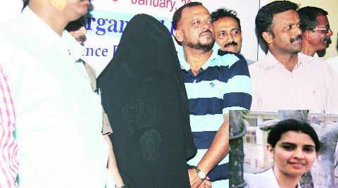 Panwar (23) after his arrest; Preethi Rathi (inset) express archive