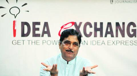 Lok Sabha Gopinath Munde at Idea Exchange. (Photo: IE)