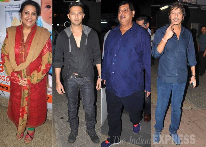 Actress Nadira Babbar, Vatsal Seth, director David Dhawan and actor Chunky Pandey snapped at the multiplex. (Photo: Varinder Chawla)