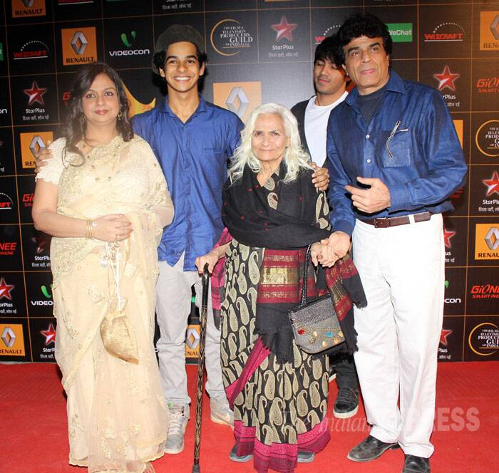 Shahid's mother Neelima Azim was with her family. (Photo: Varinder Chawla)