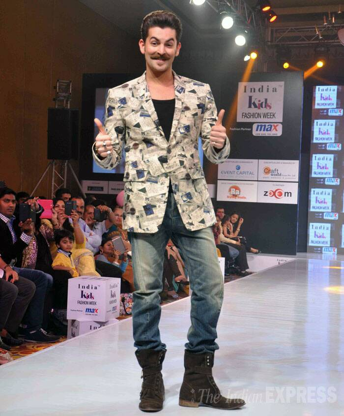 Neil Nitin Mukesh, who recently faced the wrath of the Twitterati owing to his three-word name, was all smiles on the ramp. (Photo: Varinder Chawla)