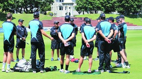 The New Zealand squad during a practice session a day before they play the final match of the ODI series against India at Wellington (Daksh Panwar)
