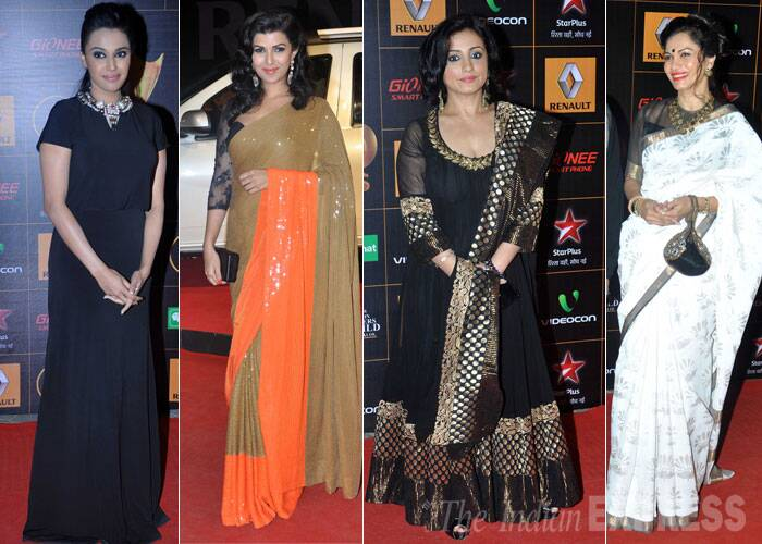 Beauties on the red carpet - Swara Bhaskar, Nimrat Kaur, Divya Dutta and Maria Goretti. (Photo: Varinder Chawla)