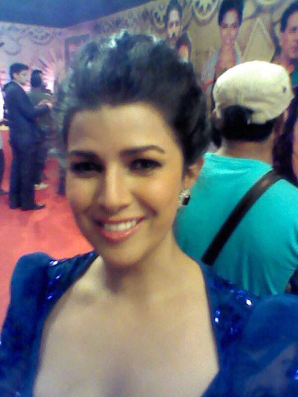 The Lunchbox actress Nirmit Kaur smiles for her selfie.
