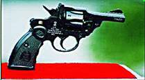 The pistol, named 'Nirbheek' as a tribute to the victim of the Nirbhaya gangrape case of December, 2012, in Delhi.