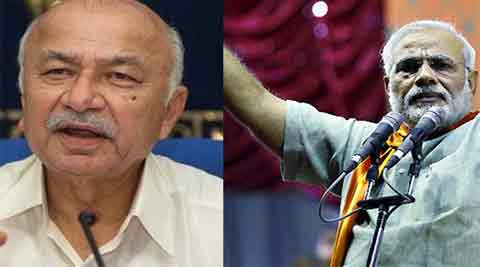 Shinde had last week made a statement that he would write to all state governments to set up review or screening committees to assess the role of minority youths languishing in jails on terror charges without trial. Modi hit back saying Shinde's suggestion was against the constitutional principle of right to equality before law.