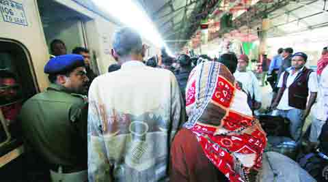 The murdered girl's parents at Howrah station, back after meeting Nitish in Patna. (Photo: Subham Dutta)