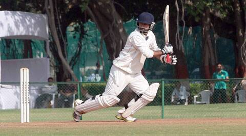 J&K skipper Parvez Rasool scored 103 off 137 balls (IE Photo Bhupendra rana)