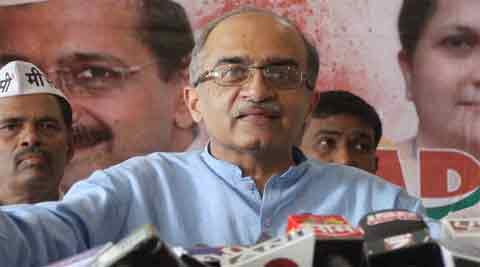 Prashant Bhushan chose to see the disruption as a joint conspiracy by the BJP and the Congress.