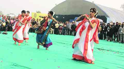 Artistes perform on the last day of the National Youth Festival at PAU on Wednesday. (Gurmeet Singh)