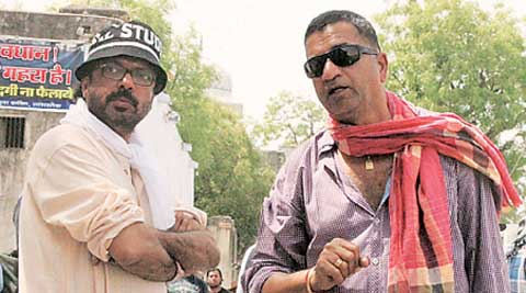 Sham Kaushal (right) with Sanjay Leela Bhansali on the sets of Goliyon ki Raasleela Ram-Leela; a still from Gunday