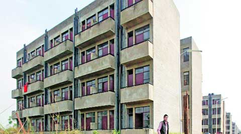 EWS Colony at Dhanas in Chandigarh. (Express )