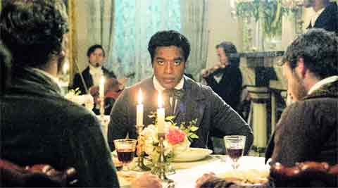 The 36-year-old is powerful as a free black man drugged and sold into slavery, in 12 Years a Slave. IE