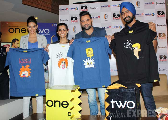Abhay Deol and girlfriend Preeti Desai launched the merchandise of their film together, 'One By Two'. (Photo: Varinder Chawla)