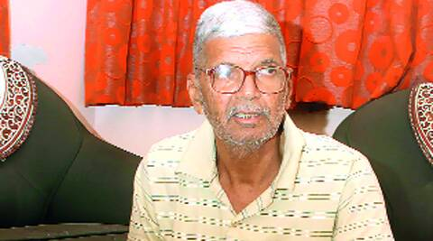Ramvilas Nagori, father of Manish, at his house in Ichalkaranji.