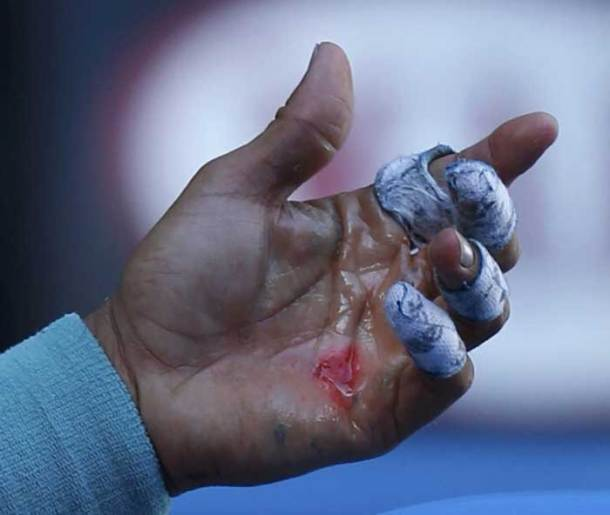 This is what Rafael Nadal went through to see off his quarterfinal opponent (Reuters)