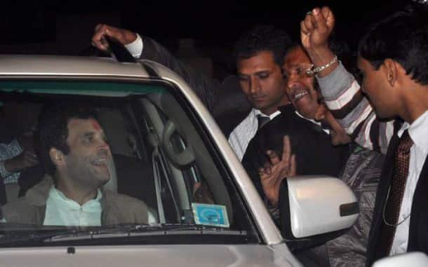Protestors wave black flags as Rahul Gandhi, Priyanka visit Amethi